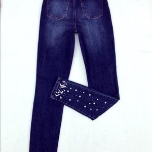 Denim - Jeans with pearls